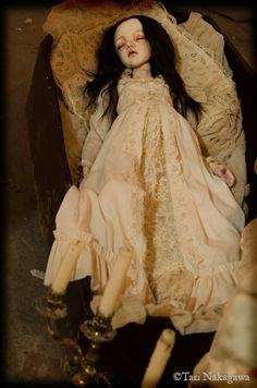 Always Loved the look Of Dolls Being In Coffins ~ Added to the Wierdness xD