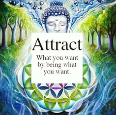 Attract what you want by being what you want.