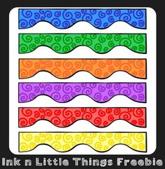Clip Art Freebie - Spiral Wiggle Borders {Ink n Little Thi
