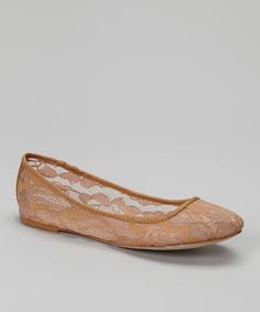 Loving this Tan Lace Elle Flat on #zulily! #zulilyfinds
