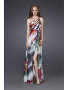beautiful multicolored bridesmaid dress