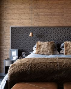 10 Unique Headboard Ideas That Will Change the Style of Your Room - - Change the look and feel of your bedroom in an instant by trying a new headboard. These unique headboard ideas are sure to inspire you to make a change! Wallpaper Headboard, Of Wallpaper, Textured Wallpaper, Bed Headboard Design, Headboard Ideas, Wall Headboard, Unique Headboards, Headboards For Beds Diy, Beautiful Bedrooms