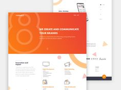 Agency Website designed by Ahmad Faris. Connect with them on Dribbble; Ui Website, Website Layout, Website Themes, Ui Design, Branding Design, Website Color Schemes, Orange Design, Website Design Inspiration, Irrigation Companies