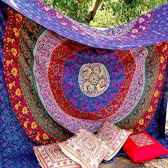 Wandbehang Tapisserie Wohnheim Dekor Dekor werfen ethnischen indischen Bettlaken in Möbel & Wohnen, Bettwaren, -wäsche & Matratzen, Bettüberwürfe & Tagesdecken | eBay