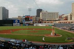 Canal Park - Akron, OH. Home of the Akron Aeros, Cleveland Indians AA Affiliate.