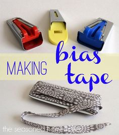 Making Bias Tape is inexpensive and easy. Once you learn this you will never buy store bought again. - The Seasoned Homemaker