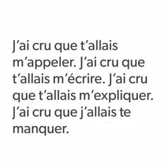 tu me manques. Sad Quotes, Love Quotes, Inspirational Quotes, Tu Me Manques, French Quotes, French Poems, Bad Mood, Some Words, Beautiful Words
