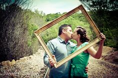 Outdoor Engagement Photo Picture Frame Wedding  Nicole Christine Photography