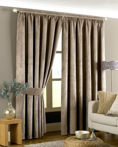 Emperor Ready Made Lined Curtains In Taupe from £32.99