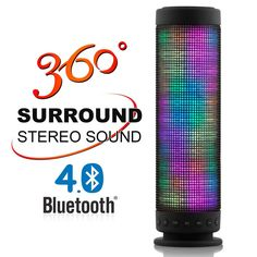 Wireless Portable Dance Bluetooth Speaker 5 LED Visual Modes 360 Degree Stereo Surround Mini Bluetooth Speaker Support TF card #Affiliate
