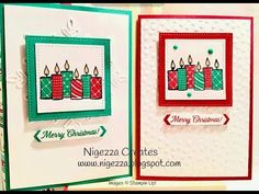 Nigezza Creates: Stampin Up Merry Patterns Candle Christmas Card