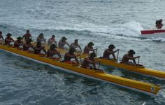 Outrigger canoe race during Heiva I Tahiti, French Polynesia