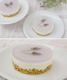 Lavanda cheesecake  la torta alla lavanda per il matrimonio??? wow