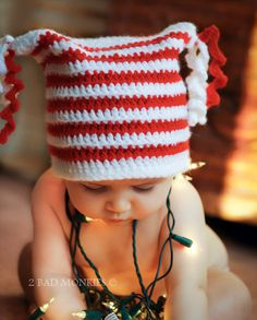 Christmas Baby Hat Holiday Hat  Photography Prop  by 2badmonkies, $35.00