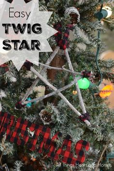 Easy Twig Star Christmas Ornament - All Things Heart and Home