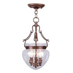 Livex Lighting 5041 3 Light Duchess Convertible Chain Hang Large Pendant - Lighting Universe