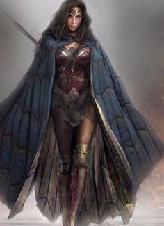 Gal Gadot as Wonder Woman ~ Screencap from Batman v Superman Costume Designer Reveals Hidden Details ~ https://www.youtube.com/watch?v=WSAO2Ff09SU ~ Click for large view