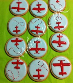 airplane cookies ---dad's birthday