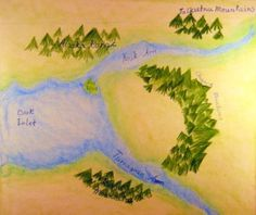 Waldorf ~ 4th grade ~ Local Geography ~   Waterways & Lakes ~ main lesson book