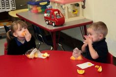 Snack time done right at Jackson-Madison County Schools in Tennessee.