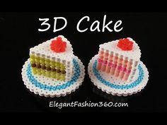 Hama/Perler Beads Cake 3D - How to Tutorial by Elegant Fashion 360 - YouTube