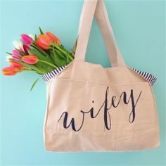Striped Wifey Tote http://rstyle.me/n/frceknyg6