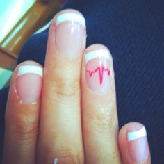 EKG nails for when i DO get accepted into the nursing program!!!!!