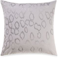 Kenneth Cole Reaction Home 18-Inch Rain Embroidered Square Toss Pillow on shopstyle.com