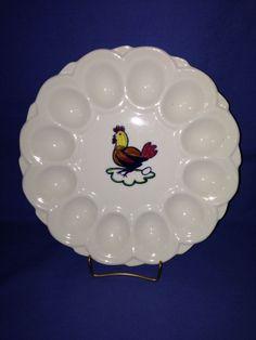 Blue Ridge Chicken Hen Egg Plate picclick.com