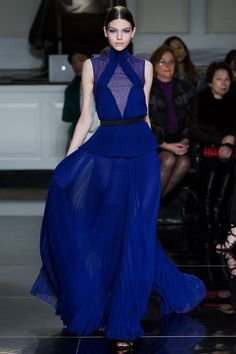 Royal blue on the runway