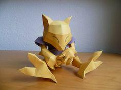 Pokemon Eevee, Pikachu, Diy Origami, Origami Paper, Pokemon Papercraft, Cool Stuff, Paper Art, Paper Crafts, Rpg
