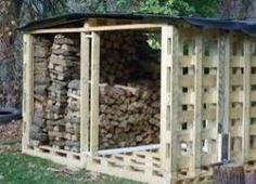 Woodshed Made From Pallets |Easy Homesteading Love this idea. Wood stays mostly dry, and critters that live in the wood can go through the walls when you get some! by Bruceski