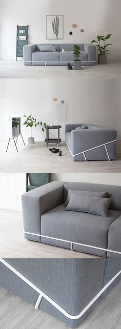 'The Frame Sofa' offers an entirely new way of customizing and switching up your unique style, minimal yet comfy, it's a surefire fit to your ever-changing interior style... READ MORE at Yanko Design !