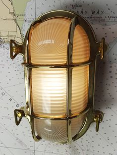 Oval Brass Bulkhead Light (new) - Skipjack Nautical Wares Nautical Lamp Shades, Nautical Lamps, Nautical Furniture, Outdoor Wall Sconce, Outdoor Walls, Frosted Glass, Lamp Light, Light Fixtures, Ceiling