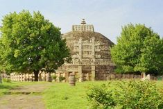 The Great Stupa at Sanchi century BCE). The dome shaped stupa was used in India as a commemorative monument associated with storing sacred relics. Khajuraho Temple, Jain Temple, Tibet, Great Stupa At Sanchi, The Great Stupa, Nepal, Laos, Sri Lanka, Lonely Planet