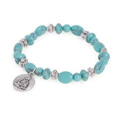 Buddha turquoise armband met medallion - AC Sieraden