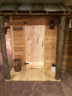 Indoor outhouse bathroom