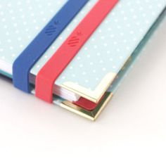 All New + Back in Stock | Emily Ley stretchy planner bands in blue and pink