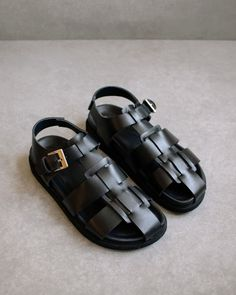 Cow Leather, Black Leather, Leather Gladiator Sandals, Clog Sandals, Jelly Shoes, Total Black, Fashion Images, Buy Shoes, Women's Shoes