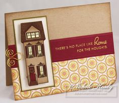 No Place Like Home Card by Nichole Heady for Papertrey Ink (September 2008)