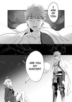 Post with 15012 views. Master Artoria and Servant Shirou [Translated] Saber X Shirou, Shirou Emiya, Stay The Night, Fate Stay Night, Saga, One Punch Anime, Arturia Pendragon, Fate Zero, Summoning