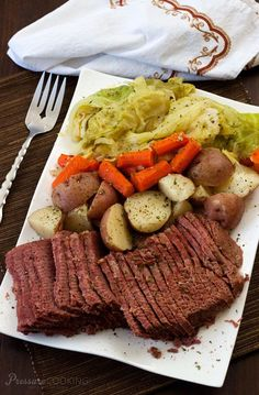 Pressure Cooker Corned Beef and Cabbage recipe from Pressure Cooking Today