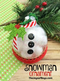snowman ornaments - Cute Homemade Christmas Decorations