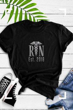 0d93a842 Nurse graduation t-shirt for nursing student, RN registered nurse gift,  graduation 2018, nurse shirt, graduation gift, nursing student gift