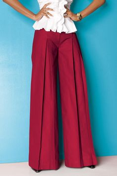 Pleated Palazzo Pant: Unique & Bold Women's Clothing from #metrostyle $6.99…