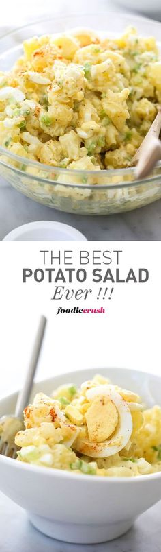 This is my mom's famous recipe for Potato Salad and one of my most popular recipes ever | foodiecrush.com More