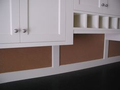 I like the idea of the cork board and mail slots for the mud room. These mails slots could be incorporated into the lockers for each person in the house.