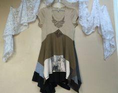 Medium  Altered Clothing Upcycled Wearable Art Junk Gypsy