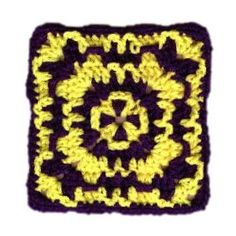 Wild Granny Square - A free Crochet pattern from Julie A Bolduc.