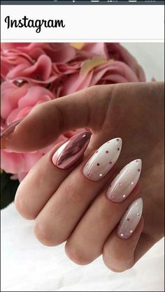 110 perfect pink and white nails for brides page 40 Brides Nails Page p Cute Acrylic Nails, Cute Nails, Pretty Nails, Gorgeous Nails, Pink Nails, My Nails, Pink White Nails, Green Nail, White Nail Art